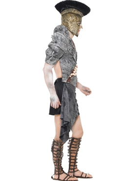 Adult Zombie Male Gladiator Costume - Back View