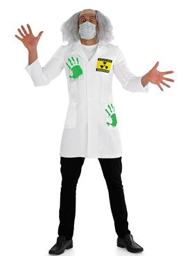Adult Radioactive Lab Coat Costume - Back View