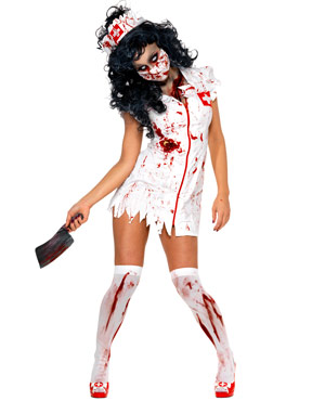 Adult Zombie Nurse Costume Thumbnail