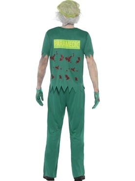 Adult Zombie Paramedic Costume - Side View