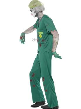 Adult Zombie Paramedic Costume - Back View