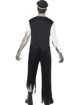 Adult Zombie Policeman Costume - Side View