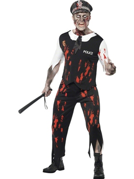 Adult Zombie Policeman Costume Thumbnail