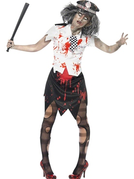 Adult Zombie Policewoman Costume Thumbnail