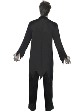 Adult Zombie Priest Costume - Side View