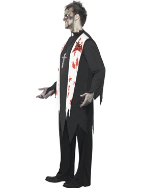 Adult Zombie Priest Costume - Back View