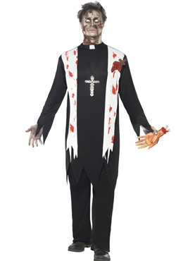 Adult Zombie Priest Costume Thumbnail