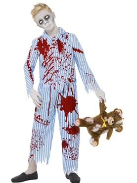 Child Zombie Pyjama Boy Costume Thumbnail