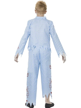 Child Zombie Pyjama Boy Costume - Side View