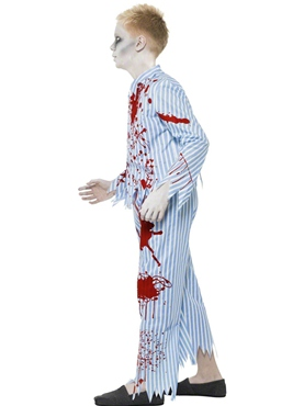 Child Zombie Pyjama Boy Costume - Back View