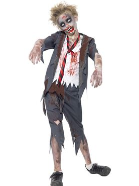 Child Zombie School Boy Costume