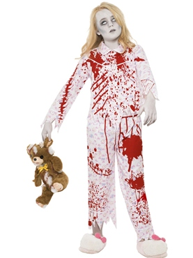 Child Zombie Pyjama Girl Costume