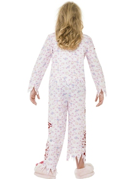 Child Zombie Pyjama Girl Costume - Side View
