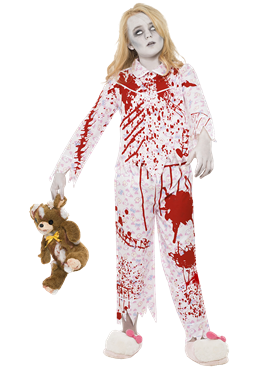 Child Zombie Pyjama Girl Costume Couples Costume