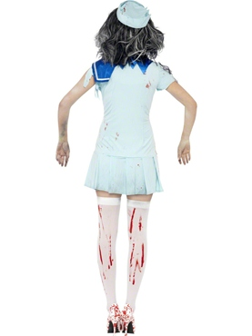 Adult Zombie Sailor Costume - Side View