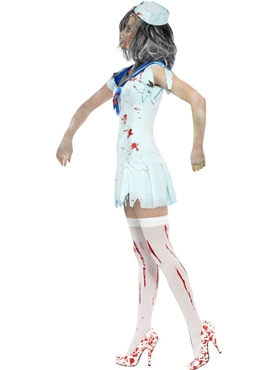 Adult Zombie Sailor Costume - Back View