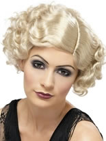 1920's Flapper Curly Blonde Wig [42003]