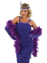 1920s Roaring Purple Flapper Costume