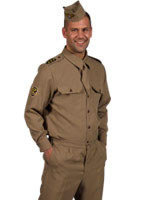 Adult 1940s GI American Army Uniform