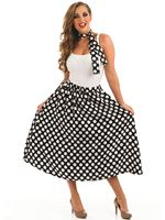 Adult 50s Black Rock n Roll Skirt