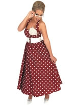 1950's Red Day Dress Costume [FS2758]