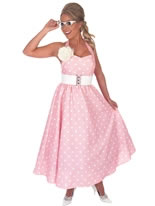 1950's Pink Day Dress Costume [FS2759]