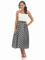 1950's Black Rock N Roll Skirt