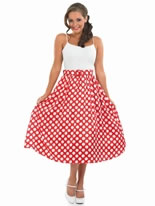 Pink Polka  Dress on 50s Fancy Dress  1950s Costumes  1950s Fancy Dress   Fancy Dress Ball