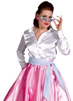 1950s Rock n Roll Skirt Pink [210132-3]