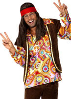 Adult 1960s Psychedelic Hippy Costume [34064]