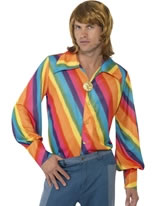 Adult 1970s Rainbow Shirt [35384]
