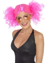 1980's Pink Bunches Wig