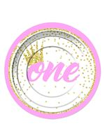 1st Birthday Girl Plates [X79814]