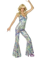Adult Dancing Queen Catsuit Costume