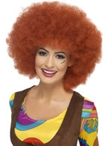60s Auburn Afro Wig