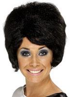 60's Beehive Wig Black