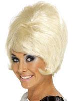 60's Beehive Wig Blonde