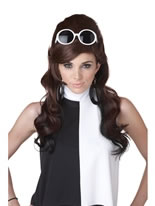 60's Brown and Black Bump Wig