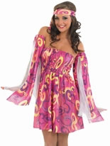 Adult 60's Swirl Dress