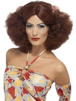 70's Afro Wig with Middle Parting