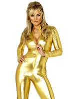 70's Disco Catsuit Gold [29782]
