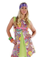 Deluxe 70s Funky Coloured Dress [209904-110]
