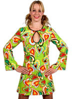 70's  Heart Design Dress [209102]