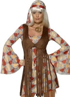 Adult 70's Hippie Fringed Costume