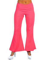 Adult Deluxe Ladies Pink Flared Trousers [203157]