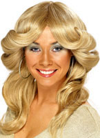 70s Layered Flick Wig Blonde [42251]