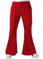 70s Mens Flared Trousers RED [203277]