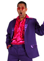 70's Mens Suit PURPLE [207201-10]