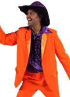 Adult Deluxe Orange 70's Mens Suit [207201-27]