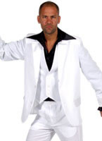 Adult 70's Deluxe White Mens Suit [207201-1]